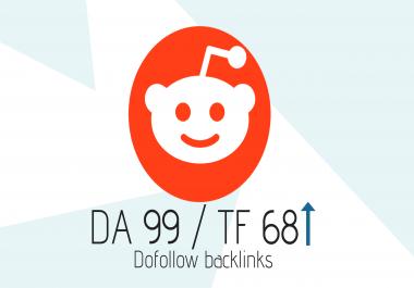 DA-99 Do-Follow Backlink from Reddit
