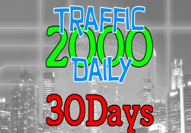 2000 Daily Visitors to your Website