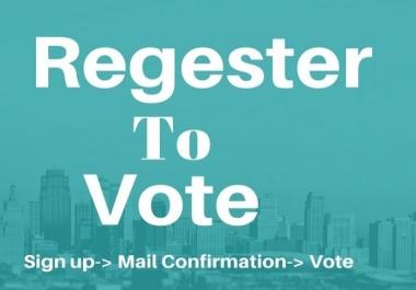 Promote 100 Email Registrasion votes / Singup votes