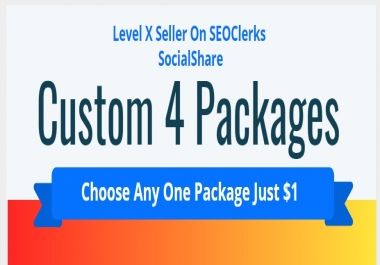 Social Signals Custom 4 Packages Choose Any One Package
