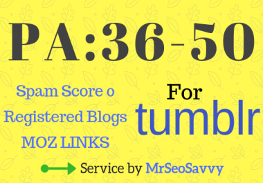 12 Registered PA 36-50 Expired Tumblr Blogs