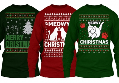Design Ugly Christmas Sweater And T Shirt Design Ready To Print