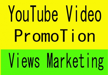 Organic YouTube Video Promotion and Marketing within 24 hrs