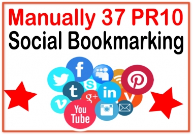 Submit you manually 37 PR 10 Social Bookmarking  backlinks