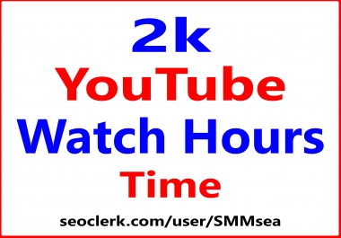 HQ YouTube Watch Hours Time Real Audience