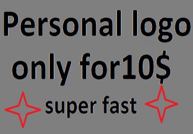 Personal logo design,super fast delivery