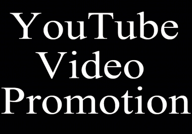 1k YouTube Video Marketing and Promotion seo