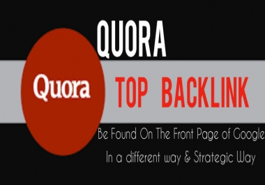 Add top backlinks on Quora qestions