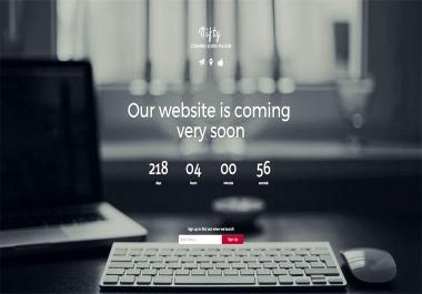 create wordpress coming soon landing page