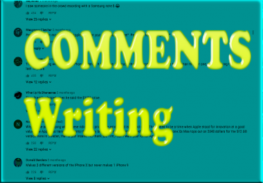 Write Connments marketing anything