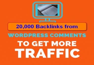 20,000 wordpress Blog Comment Backlinks for Google SEO