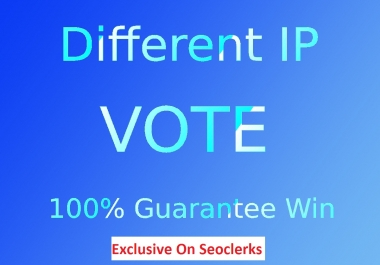 Amazing 200 Real online voting contest votes With Different IP,s