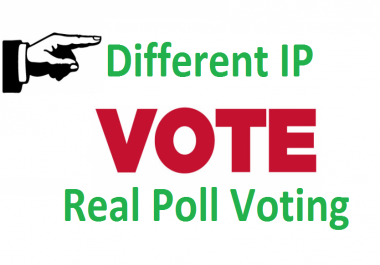 Different 200 ip votes on your online poll voting contest poll