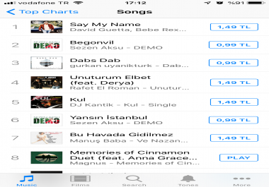 TOP THE ITUNES EP CHARTS Turkey