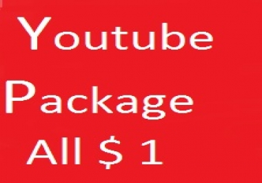 YouTube promotion via All in one Real work