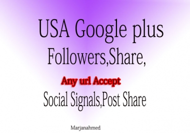 BUMPER OPPORTUNITY TO GET 110+ USA BASE GOOGLE PLUS