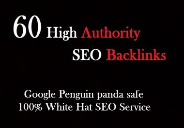 60 high quality SEO backlinks link building