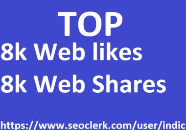 16,000 Social Signals White Hat SEO Backlinks Rank on TOP 1 Social Media