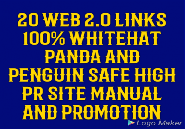20 web 2.0 links manual panda and penguin safe for rank your site for $3