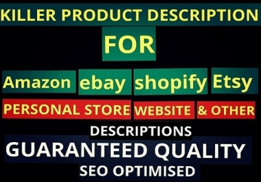 write eyes catchy , SEO Friendly products description