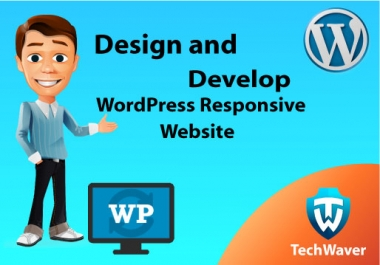 Design and develop wordpress responsive website