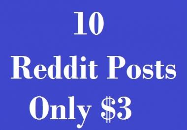 10 Reddit Post To Your Link in Different Subreddit