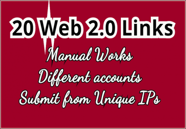 Get 20 Web 2.0 BackLinks for your Website or Blog
