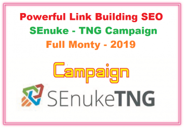 Powerful Link Building SEO SEnuke TNG Campaign Full Monty 2019