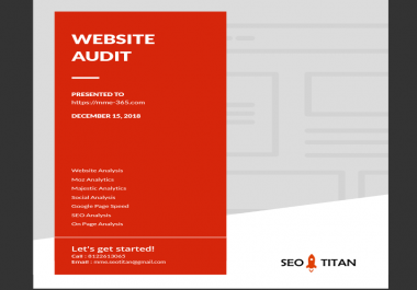 Custom SEO Report & Website Audit for 2 Websites