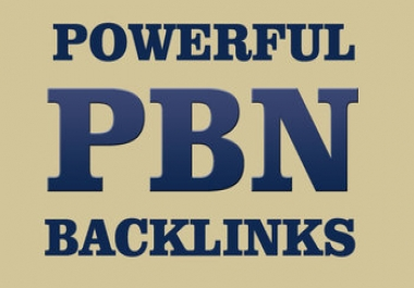 Build 10 High PR PA DA TF CF  to 50 + to 15 PBN Backlinks - Homepage Quality Links