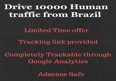 Send 10000+ real human traffic from Brazil