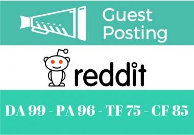 Guest Post On Reddit.com DA99