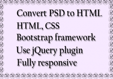 Psd to html responsive using Bootstrap 4