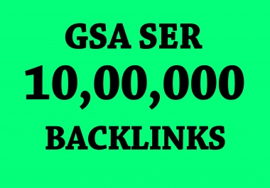 High Authority 1 Million Backlinks for Increase Link Juice and Faster index on google Ranking