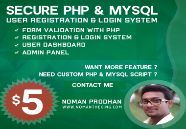 Secure PHP & MySQL User Registration and Login System