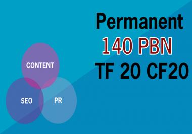 Build 140 Permanent High Metrics Homepage PBN Backlinks