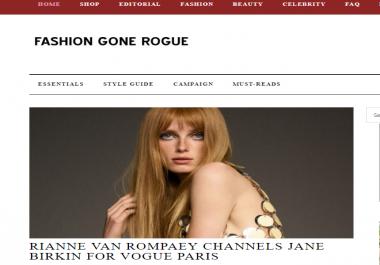 Guest Post on Fashiongonerogue.com - DA73- Fashion Website