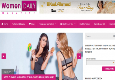 Give you guest post on womendailymagazine.com Beauty Blog