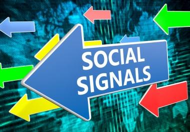 6,000 mixed permanent Social Signals From Top 2 Social Media Websites From PR9 SEO Ranking
