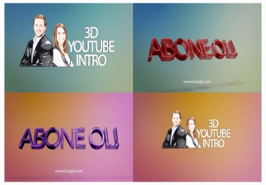 create 3D Youtube Intro - Quality 1920x1080p FULL HD