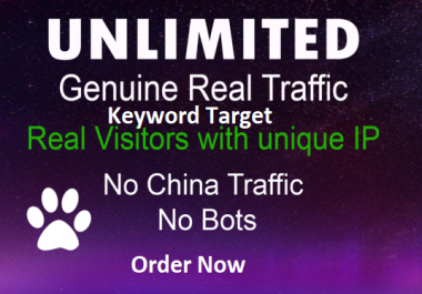 drive Super CONTINENT Organic ,Keyword target web traffic for 2 months