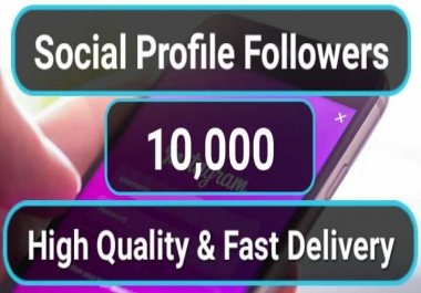 10,000+ High Quality Social Profile Followers in 2-3H Non Drop