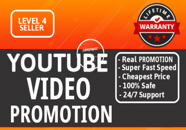 Instant YouTube Video Promotion Drip Feed With Safety Guaranteed