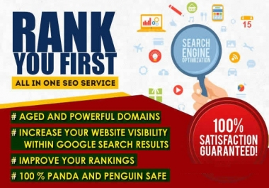 Grab Google 1st Page Rankings with All in One Seo Backlinks Package for your website