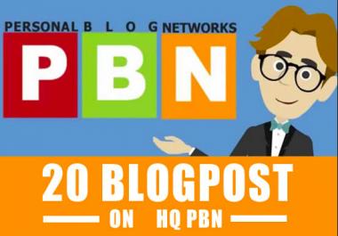 Premium 20 PBN Post Permanent - Write and Publish