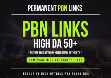 I will Provide you 10 PBN links From 50+ DA PA sites