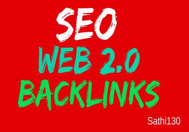 I provided you high  quality 100  web 2.0 backlinks