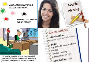Write 11 Unique, Optimistic and Quality Article