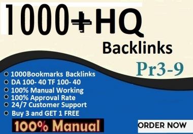 1000 Unique Domain  Bookmarks Backlinks On Da,Pa,Tf100