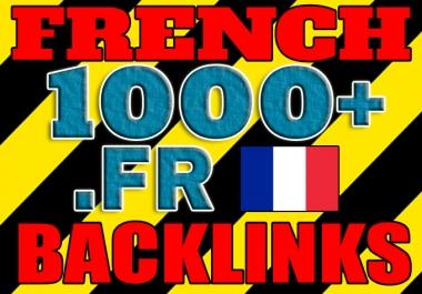 Get over 1000 French .FR backlinks